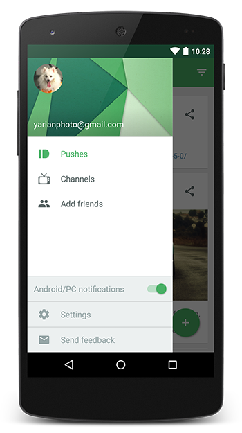navigation drawer android 5 1